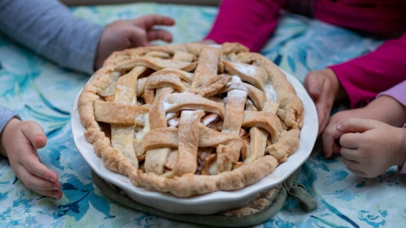 葡萄干苹果派 秋天甜美的风味(组图)