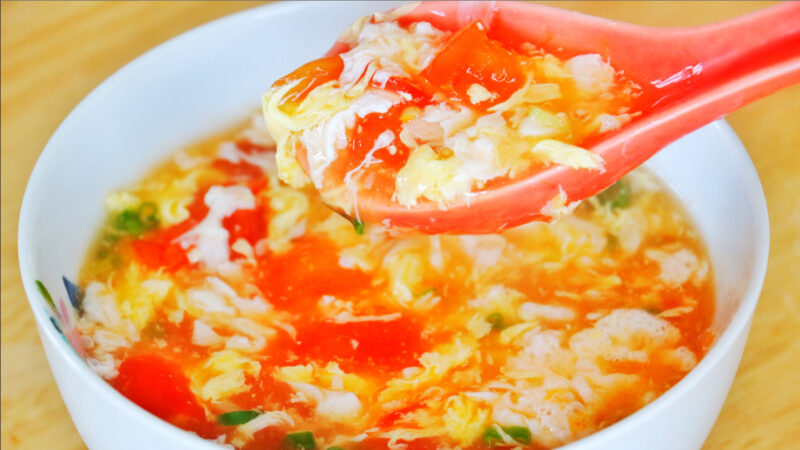【美食天堂】番茄蛋花汤的做法~简单美味赞不绝口!家常料理食谱 一学就会