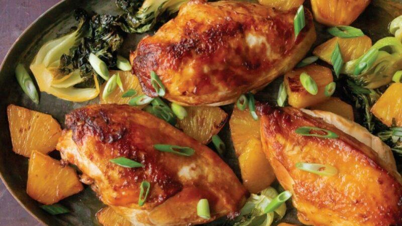 妈妈的酱油鸡配菠萝小白菜(组图)