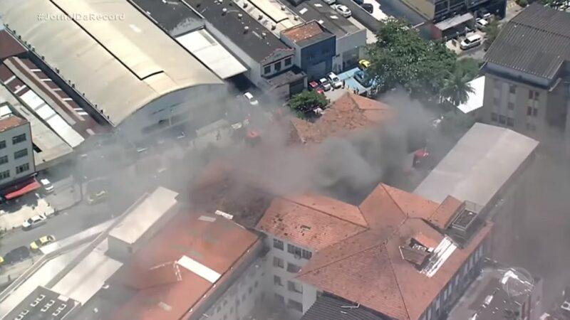 里约联邦医院火警 2名确诊肺炎患者死亡(视频)