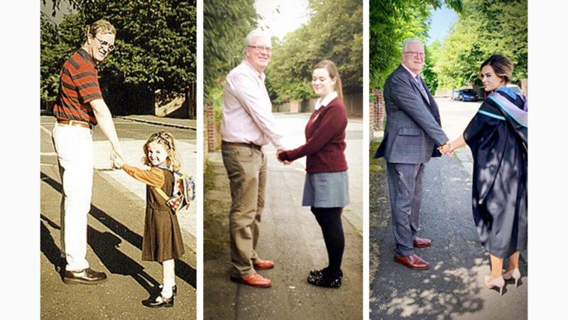 三张温馨照片见证父女情深 感动近百万网友
