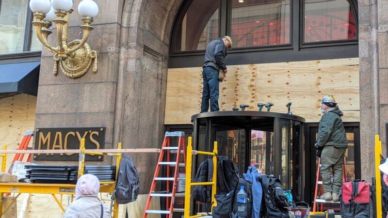 【新唐人晚间新闻】防选举日打砸抢 纽约木板封店