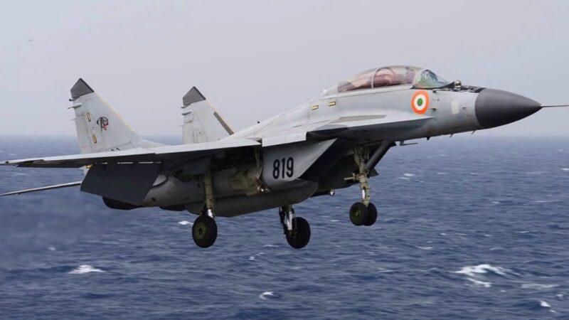 印度米格29K墜毀阿拉伯海 飛行員1失蹤1獲救