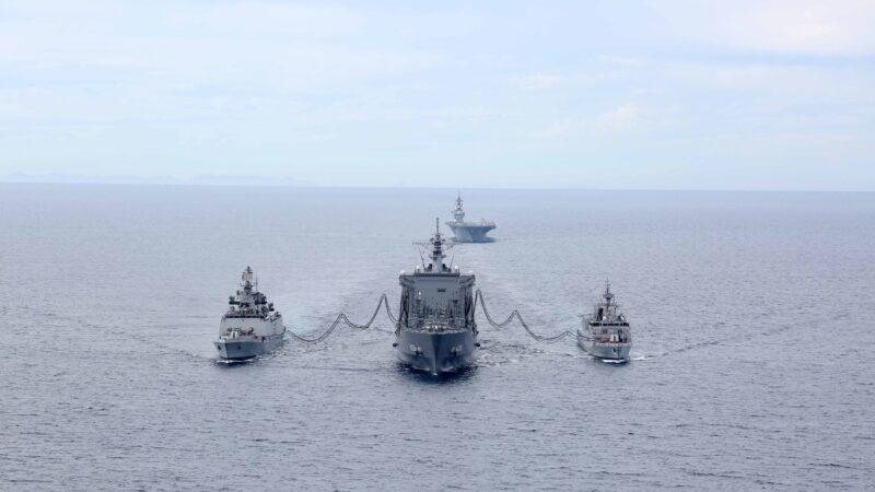 遏阻中共軍事擴張 美印日澳印度洋聯合軍演