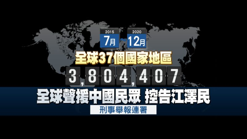 人权日声援法轮功 全球380万人举报促法办江泽民