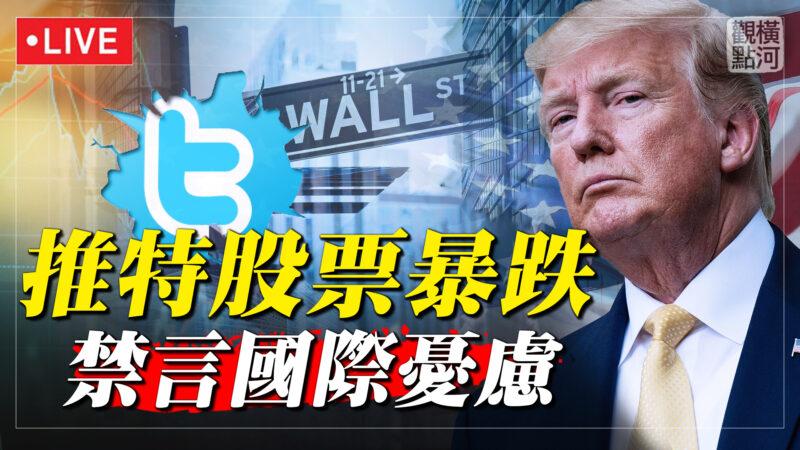 【横河直播】推特股票暴跌 禁言国际忧虑