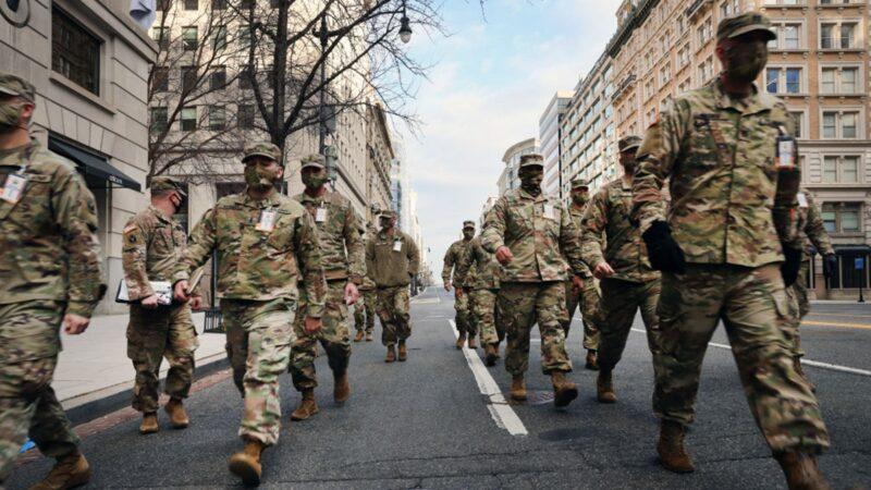 组图:拜登就职前一天 华盛顿街头景象
