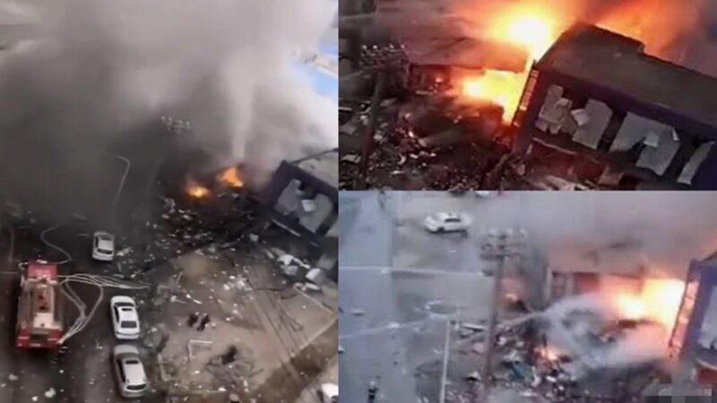 大连燃气管道突发爆炸 至少8伤3死(视频)
