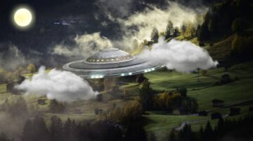 美男自家花園中驚現UFO 外星人送了他「星際煎餅」
