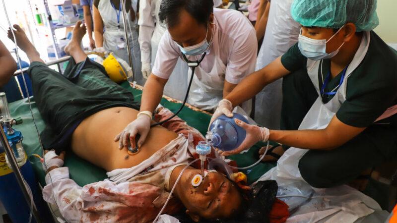 缅甸軍警向抗議者開槍釀18死 傷者不計其數
