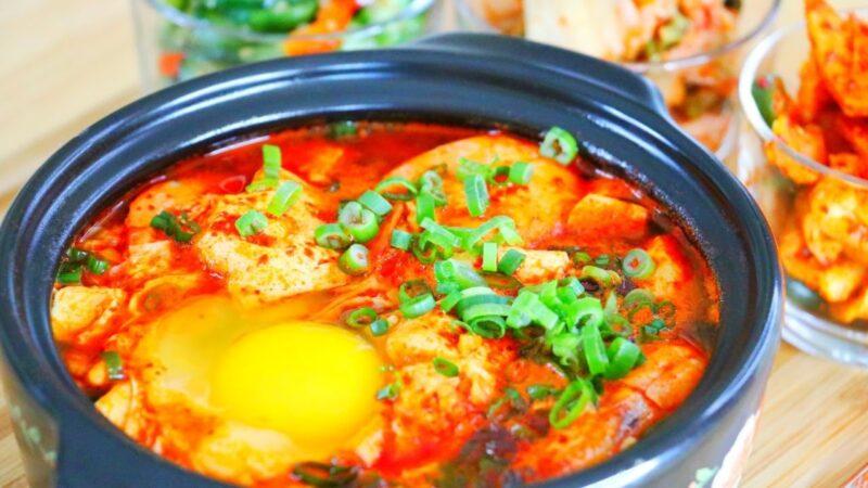 【美食天堂】韩式海鲜嫩豆腐锅做法~韩国必吃美食