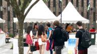 悉尼麦考瑞大学迎新周 法轮大法社团受欢迎