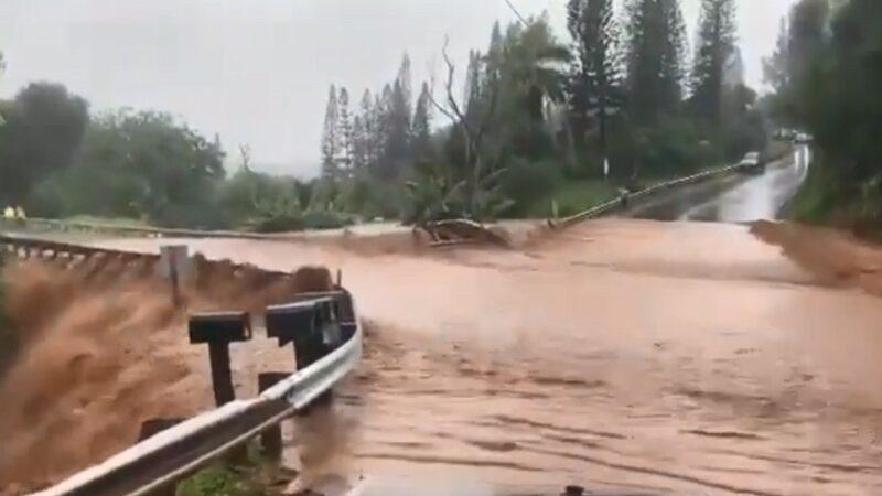 25年來罕見大雨 夏威夷毛伊島水壩潰決