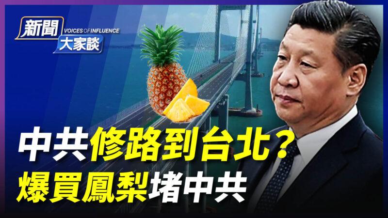 【新闻大家谈】中共修路到台北? 爆买凤梨堵中共