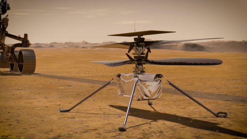 美國直升機降落火星 成功度過-90℃第一夜