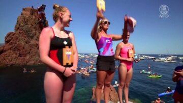 休赛近两年 红牛世界悬崖跳水巡回赛法国登场