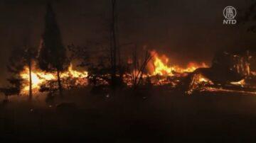 加州野火肆虐 威脅101號公路 居民疏散