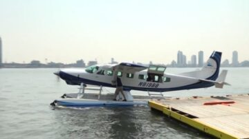 記者直擊:水上飛機啟航 紐約直飛波士頓75分鐘