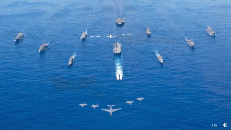 威慑中共 美军演横跨17时区 冷战以来最大规模
