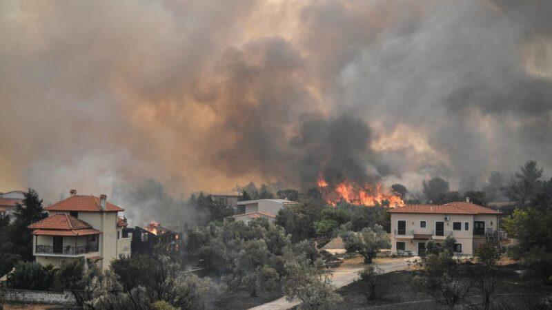 严重热浪袭希腊 不受控制野火进入第5天