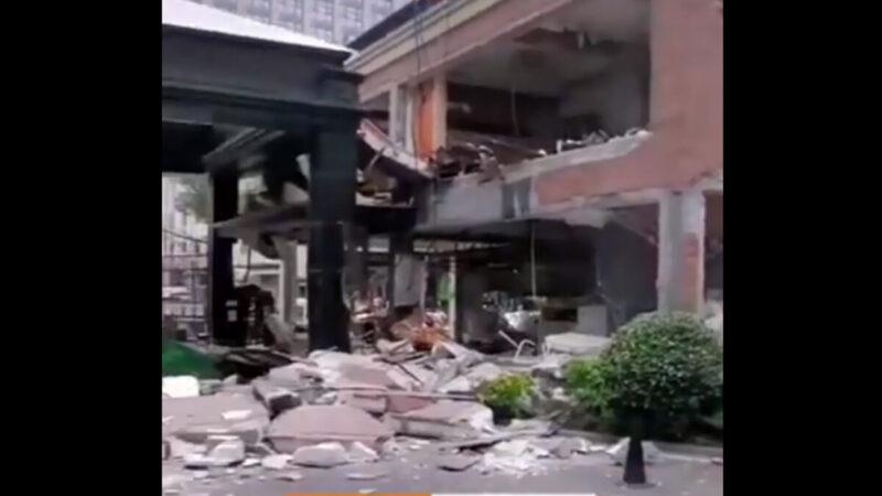 突发!嘉兴万科海上新园发生爆炸  2人受伤送医(视频)