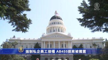 強制私企員工接種 AB455提案被擱置
