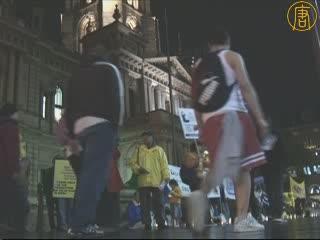 悉尼法輪功學員紀念反迫害九週年