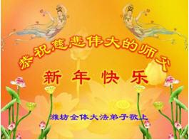 大陸法輪功學員恭祝創始人新年快樂(十八,262地)