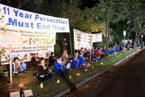 墨爾本4.25燭光悼念 中領館人員酗酒挑釁