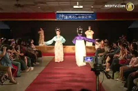 华丽汉服走秀 展现中华文化之美