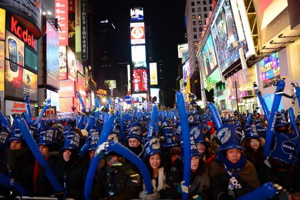 纽约时报广场倒数 涌进百万人潮(二)