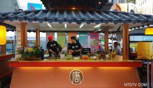 亚洲美食节时代广场热闹非凡