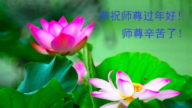 大陸江西大法弟子恭祝李洪志大師過年好(三)