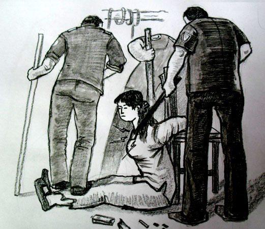 前进劳教所恶警殴打 善良妇女骨头折裂