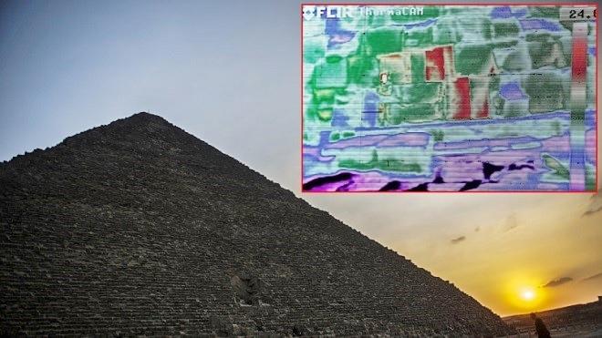金字塔重大发现!热能扫描图片显示 地下藏有秘密