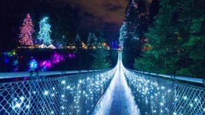 溫哥華卡皮拉諾吊橋聖誕燈飾