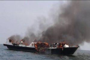 印尼载250人客船瞬间失火 乘客跳船已知23死17失踪