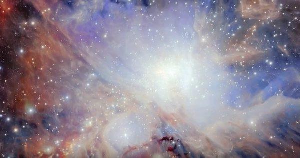 视频:猎户座大星云新星璀璨    繁星如雪花般飞扬