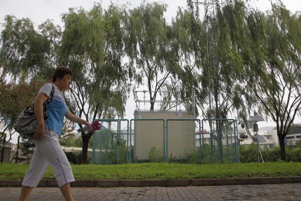 北京公園內測陰霾? 空氣監測點大公開