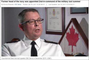 加拿大副國防參謀長暫離職 沒有任何解釋