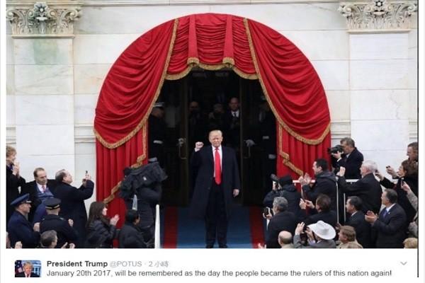 美总统@POTUS移交川普 1时内吸引430万名跟随者