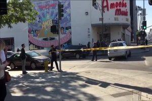 见人就砍 洛杉矶好莱坞大楼外歹徒伤人遭击毙