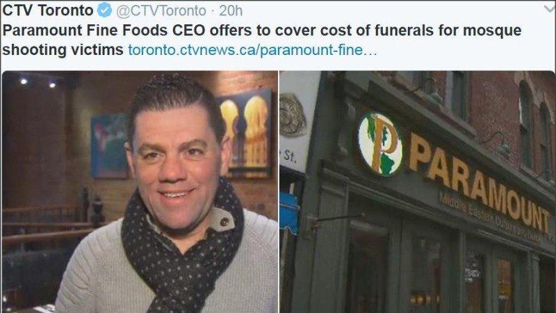 魁北克城枪击案6名死者周四葬礼 连锁店长承担所有费用