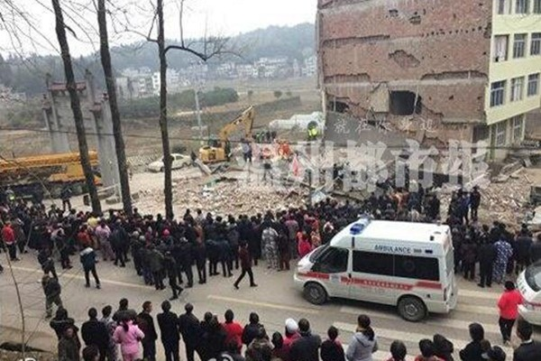 溫州再現民房倒塌事故  多人被活埋