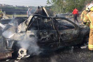 台国道3号六甲段车祸起火 酿1死1伤