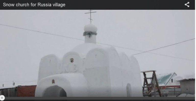 俄羅斯村莊無教堂 男子花6週用雪蓋一座