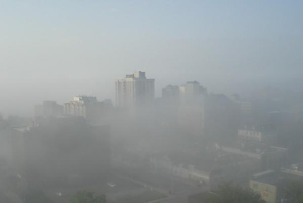 中國元宵節後陰霾再起  23城市陷嚴重污染