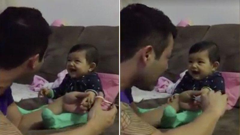 惊叫+开怀大笑!宝宝不让爸爸剪指甲,竟然用这个方法让爸爸肚子痛半天