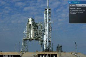 載貨至太空站 「獵鷹9號」發射台升空(視頻)
