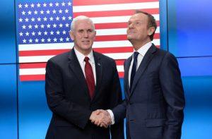 美国国旗51颗星! 彭斯到访 欧盟闹笑话
